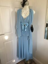 Wedding Outfit Mother Of Bride By Dusk, By Frank Usher, Ice Blue ,16, 7 Set Sale