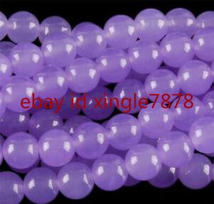 Natural 8mm Purple Alexandrite Round Gemstone Loose Beads 15'' AAA
