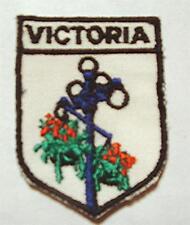 NEW VINTAGE 1970's VICTORIA, B.C. CANADA SOUVENIR SEW-ON FABRIC APPLIQUE PATCH