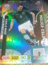 limited edition adrenalyn xl euro 2012 JOHN O'shea  cards new Irlanda