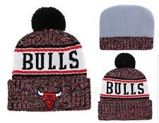 Chicago Bulls New Era NBA Knit Hat On Field Sideline Beanie