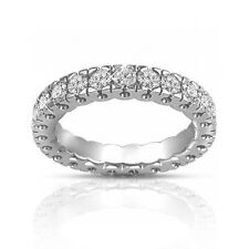 1.50 ct Round Cut Diamond Eternity Wedding Band Ring In 18 Karat White Gold