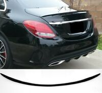Für Mercedes Benz C-Klasse W205 C36 Amg Look Heckspoiler Schwarz Glanz Spoiler #