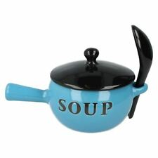 Articoli blu in ceramica per l'organizzazione della cucina