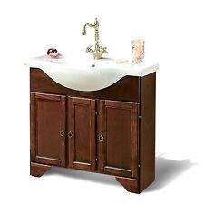 Mobile bagno arte povera 85 cm base completa di lavabo in ceramica stile country