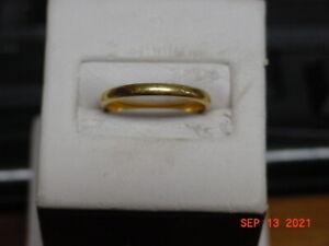 22K LADIES YELLOW GOLD WEDDING BAND 2.7 GRAMS SIZE 5.75