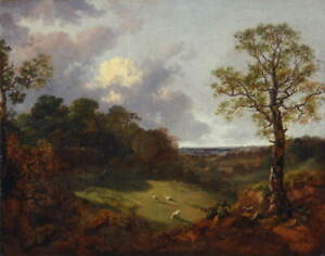 Thomas Gainsborough Wooded Landscape with a Cottage Giclee Paper Print Poster