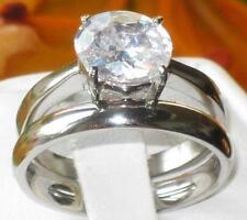 Markenlose Modeschmuck-Ringe im Verlobung-Stil aus Edelstahl für Damen