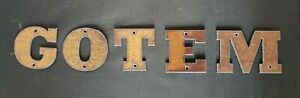 2 inch Rusty Letters Numbers Symbols  Order what you need we GOTEM  in stock NOW