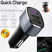 Mcdodo 42W 4.8A QC 3.0 Fast Charging Car Charger 3 USB Ports for iPhone Samsung