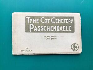 WW1 Tyne Cot War Memorial Cemetery Passchendaele 10 Postcard Set in Booklet
