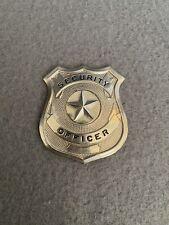 Vintage Silver Tone Security Officer Badge Star Emblem
