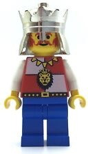 LEGO LION KNIGHT KING MINIFIGURE CASTLE VINTAGE ROYAL FIG WITH CROWN