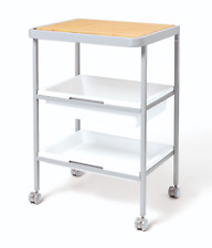 Kitchen trolley 3-tier with bamboo chopping board - Food storage