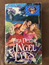 Vintage 1991 Angel Eyes Thea Devine Paperback Book Historical Romance Zebra