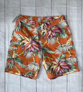 Vtg New Polo Ralph Lauren Cotton Nylon Board Shorts Swim NWT Aloha Hawaiian 36
