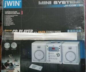 Jwin Mini Systems JX-CD31 OO Micro HIFI CD Player with AM/FM Stereo Radio New!