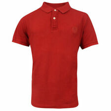 Timberland Earthkeepers Short Sleeve Mens Vintage Polo Shirt Red 4644J 613 UA123