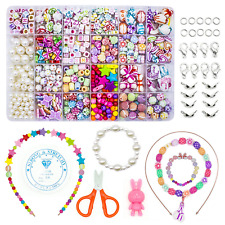 WonderforU Children DIY Beads For Jewellery Bracelet Necklaces String Making Art
