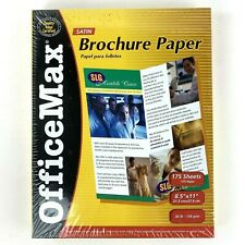 Office Max Brochure Paper 8.5 x 11 Satin 175 Sheets