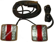 Magnetic 12v LED Trailer Light and Cable Assembly