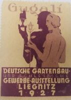 LIEGNITZ 1927 GUGALI GERMAN BUSINESS EXHIBITION STAMP LABEL ADVERTISEMENT