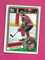 1984-85 OPC # 121 DEVILS PAT VERBEEK ROOKIE EX-MT CARD (INV# C4545)