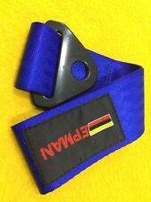 Tow strap hook point CAMS regulations compliant BLUE 250 mm long race