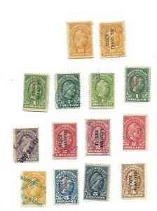 Liberty  Stock Transfer  tax stamps 14 used stamps
