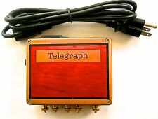 Telegraph Key & sounder power 1-3.5-6 and 9 Volts Morse Code Train Collectible