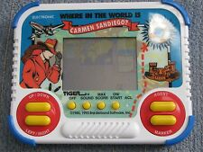 1990 1993 TIGER Electronic Handheld Where in the World is Carmen Sandiego? Works