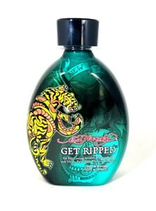 Ed Hardy GET RIPPED Cooling Bronzer Tattoo Fade Protection Tanning Lotion 13.5oz
