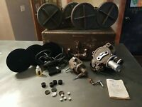 Bell & Howell 70HR 16mm movie camera kit Angenieux and Canon lenses 1948