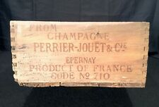 Vintage 1930's Perrier Jouet Champagne France Advertising Crate W/ Nice Graphics