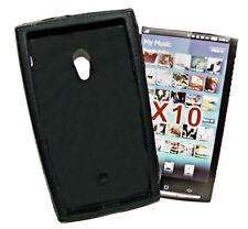 Silikon TPU Handy Cover Case Schwarz für Sony Ericsson  X10 + Displayschutzfolie