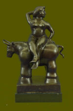 Handcrafted bronze sculpture GIFT Gir Nude Century Mid Abstract Botero Fernando