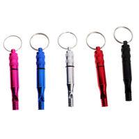 5pcs Ultra Loud Aluminum Emergency Survival Whistle Camping Hiking Gear
