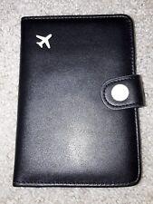Zoppen Brand RFID Blocking Black Color Leather Passport Case