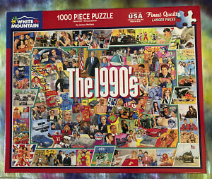 WHITE MOUNTAIN Jigsaw Puzzle 1000 Piece Item #959 The 1990's Made in the USA