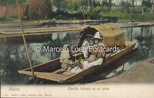 MEXICO FAMILIA INDIGENA EN SU CANOA LATAPI Y BERT 110