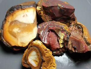 Boulder Opal Rough Parcel Yowah Nut Solid Natural Lapidary Specimens 359 grams