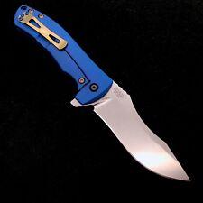 Zero Tolerance ZT 0920 Plain Edge Folder ZT920 CPM 20CV Steel Blue & Gold