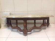 Vintage 80's Syroco Resin Wall Shelving With Marble top USA