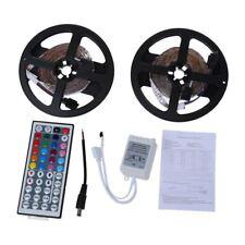 2x5m 10m 3528 SMD 600 LED Lichterkette Lichtleiste RGB +Fernbedienung DE J2F8