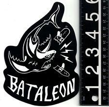 BATALEON SNOWBOARDS STICKER Bataleon 6 in x 4 in Shark Snowboarding Decal
