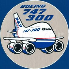 BOEING 747-300 CLASSIC WIDE-BODY COMMERCIAL JET & CARGO AORCRAFT STICKER