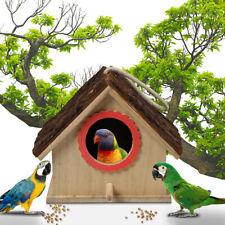 Large Bird House Nest Box  Wood Wooden Hanging Birdhouse Outdoor Garden Decor