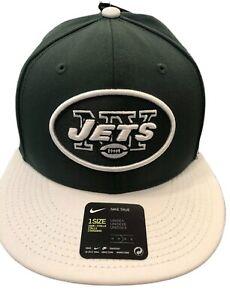 Nike New York Jets NFL Gary V NY Mens OSFA Green White Team Snapback Trucker Hat