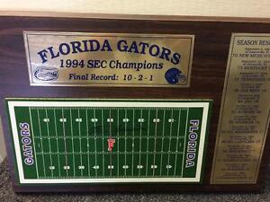 1994 SEC Football Championship Plaque - Florida Gators -Signed by Steve Spurrier