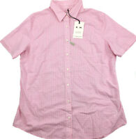 RM Williams Womens Nicole Short Sleeve Button Up Shirt Pink Check Size 8 NEW